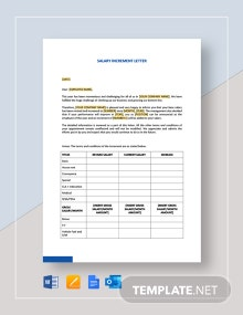 Salary Increment Letter Template