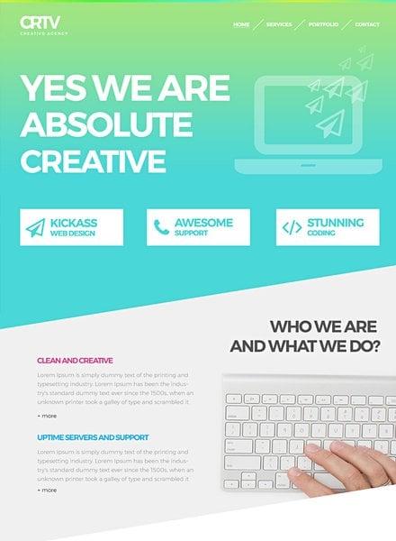Free Creative Agency Website Template