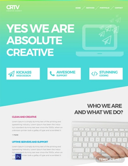 Free Creative Agency Website Template