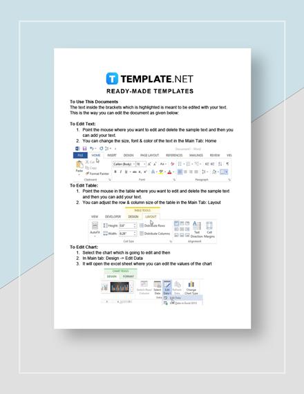 Company Bonus Letter Instructions