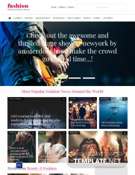 Fashion Blog PSD Website Template