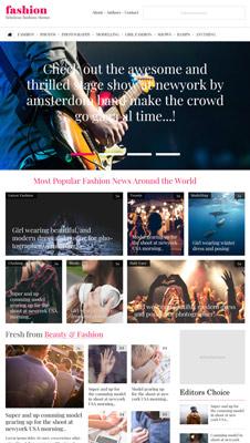 Free Fashion Blog PSD Website Template