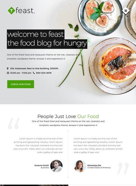 Free Food Blog Website Template