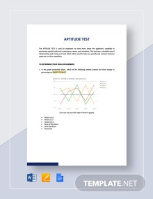 Aptitude Test Template