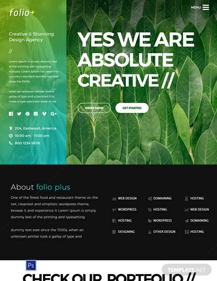 Free Design Agency PSD Website Template