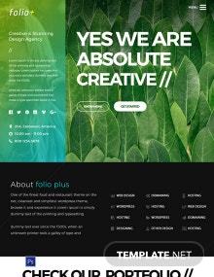 Free Design Agency PSD Website Template
