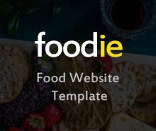 Free Foodie Photoshop Website Template