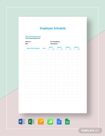 Scheduling Sheet Template from images.template.net