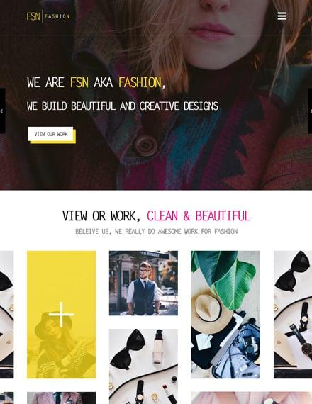Free Fashion Designer Website Template