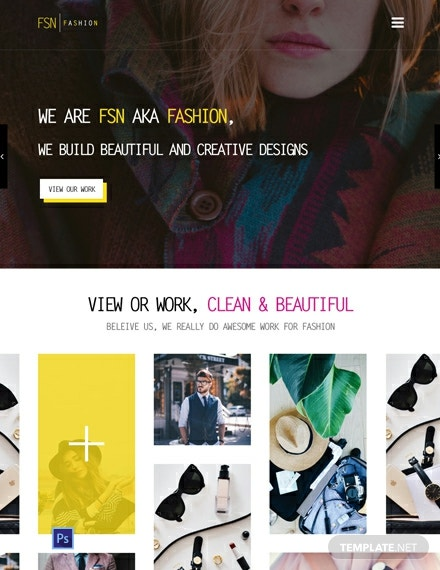 Free Fashion Designer Website Template