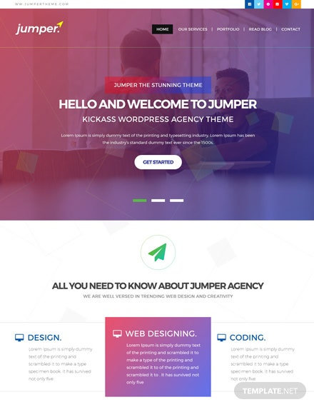 Free Web Design Agency PSD Website Template