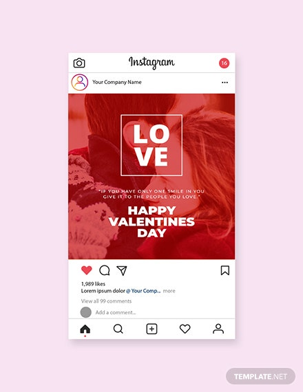 Free Valentines Day Instagram Post Template