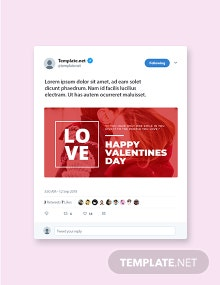 Free valentines day twitter post Template