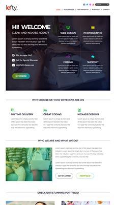 Free Web Design Portfolio PSD Website Template