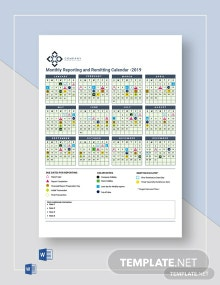 Monthly Reporting/Remitting Calendar Template