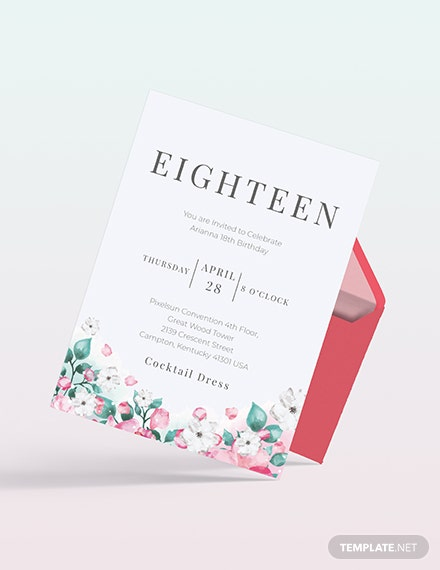 Sample th Birthday Invitation Card