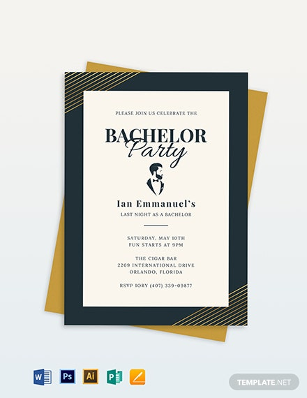 bachelor party invitation template 1
