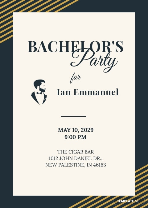 Bachelor Party Invitation Template