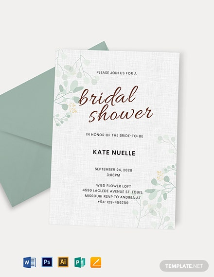 Bridal Shower Party Invitation Template