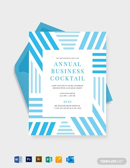 Business Cocktail Party Invitation