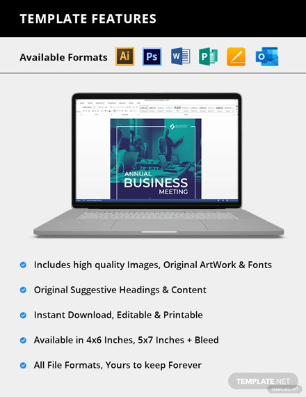 Editable Business Event Email Invitation
