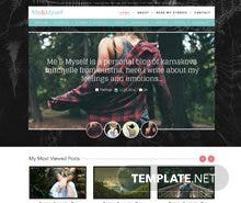Free Me & Myself Personal Blog Website Template