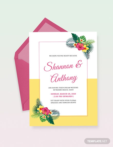 Destination Wedding Invitation Download