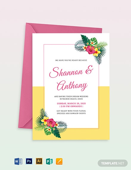 Destination Wedding Invitation Template