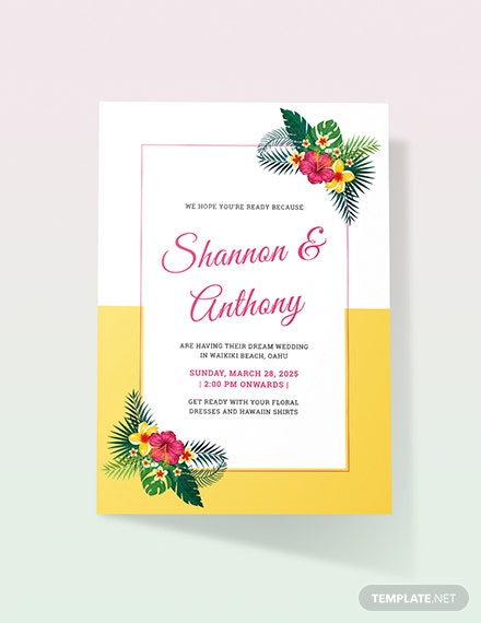 Sample Destination Wedding Invitation