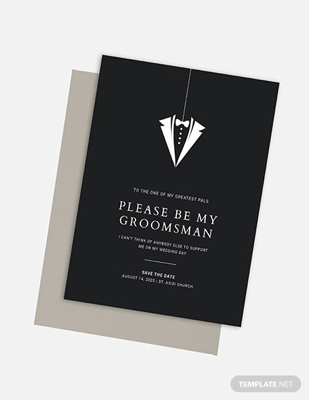 Groomsmen Invitation Card Download