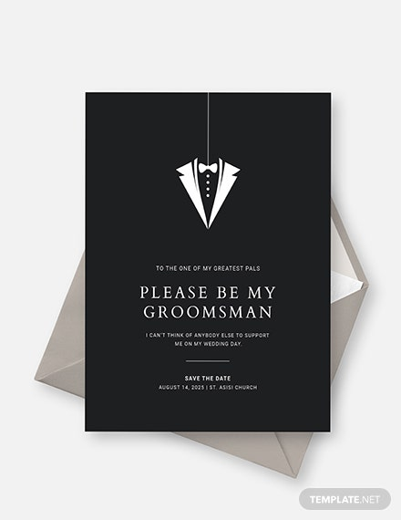 Groomsmen Invitation Card Sample