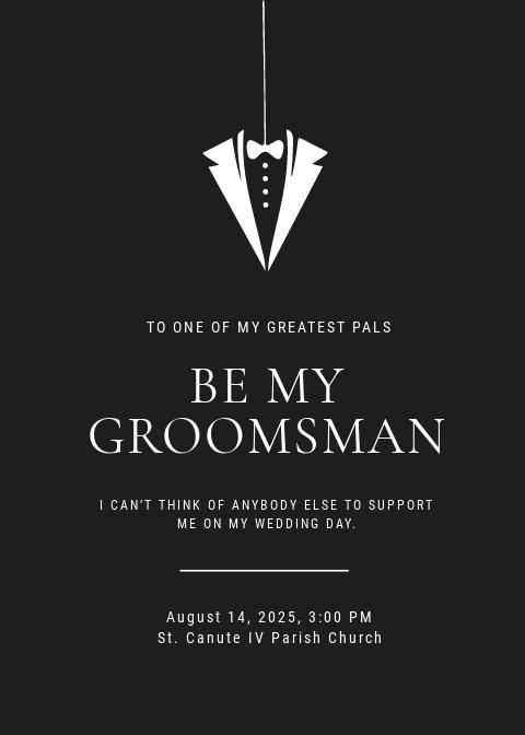 Groomsmen Invitation Card Template
