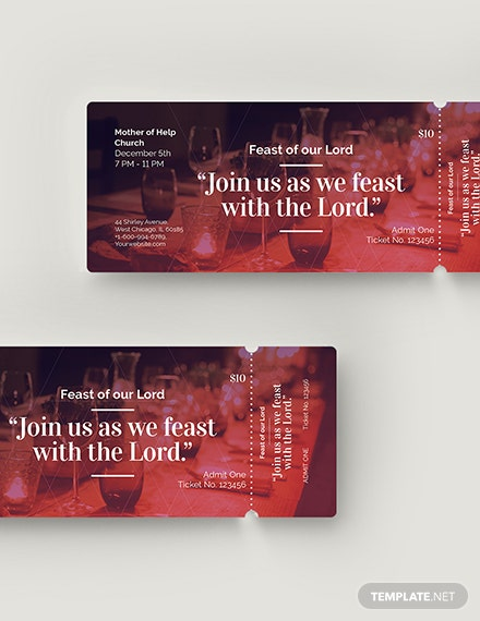Church Banquet Ticket Download