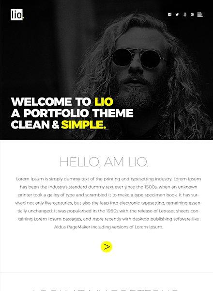 Free Photographer Portfolio PSD Website Template