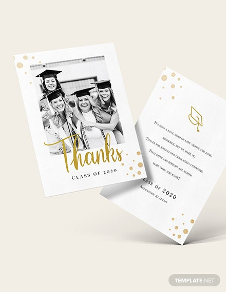 College Graduation Thank You Card Download