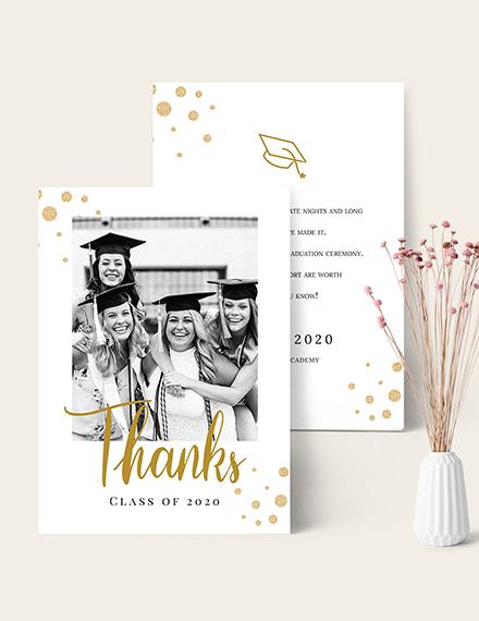 Sample College Graduation Thank You Card