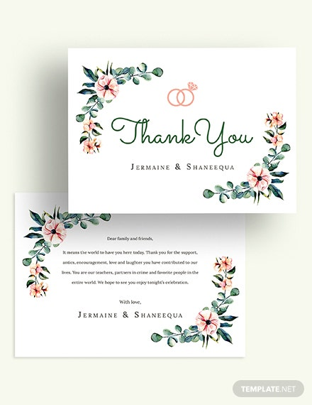 Engagement Thank You Card Download