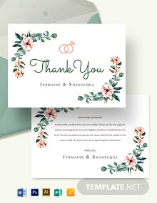 Engagement Thank You Card Template