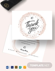 Fashion Thank You Card Template