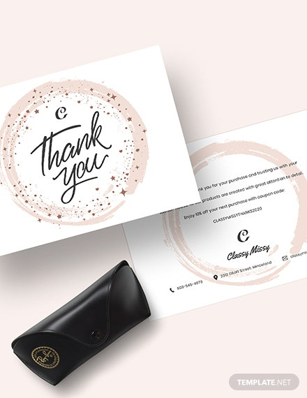Sample Fashion Thank You Card