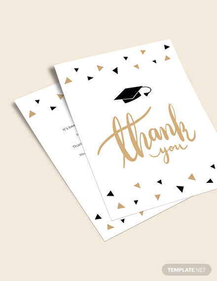 Graduation Party Thank You Card Download