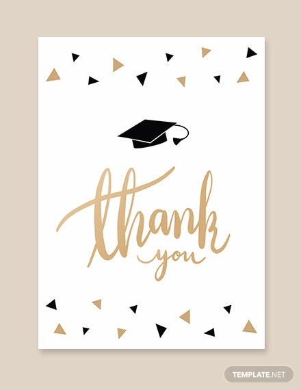 Graduation Party Thank You Card Template