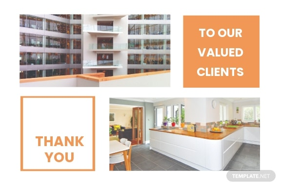Real Estate Business Thank You Card Template.jpe