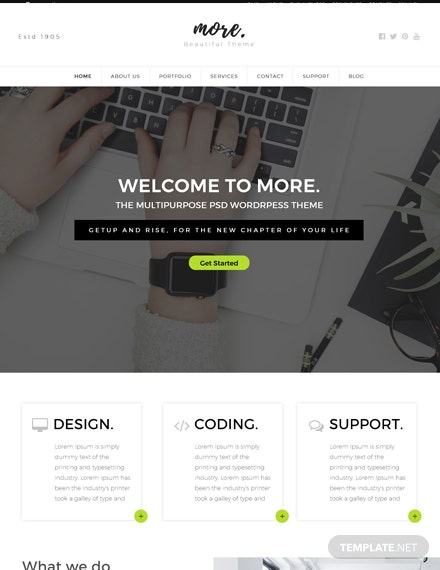 Free Multipurpose Website Template