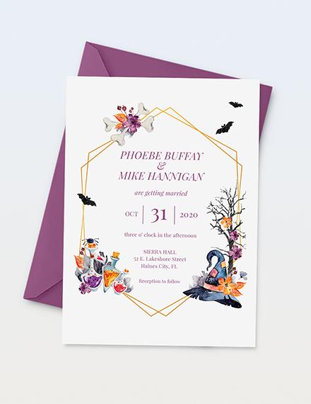 Halloween Wedding Invitation Download