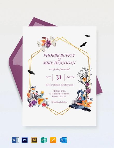 Halloween Wedding Invitation Template