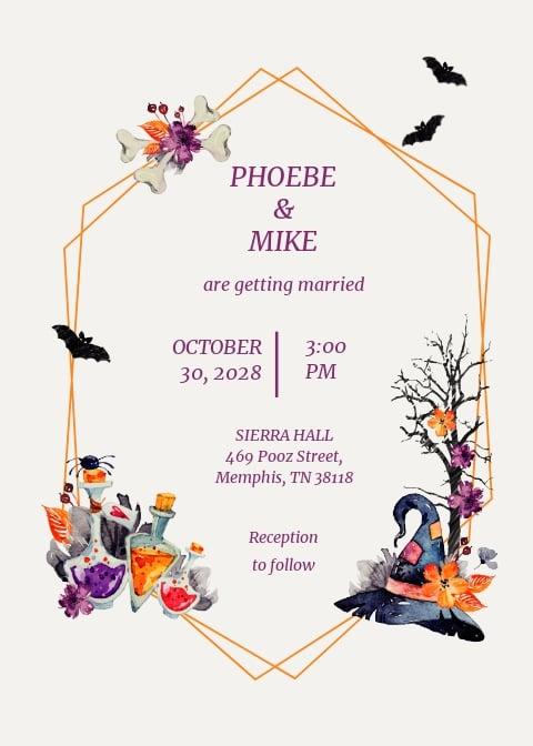 Halloween Wedding Invitation Template.jpe