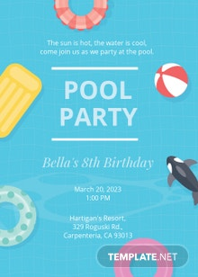 Kids Pool Party Invitation Template
