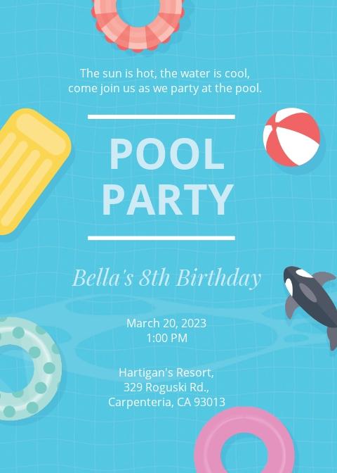 Kids Pool Party Invitation Template.jpe