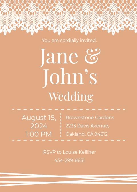 Lace Wedding Invitation Template.jpe